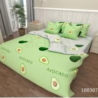 Постельное белье Авокадо Green Grey бязь люкс