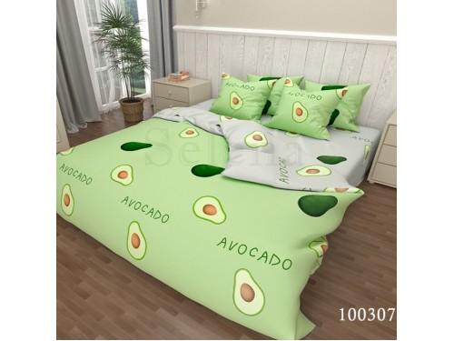 Постельное белье Авокадо Green Grey бязь люкс 100307 от Selena в интернет-магазине PannaTeks