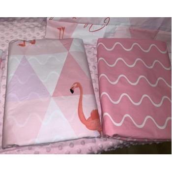 """Постельное белье бязь с компаньоном """"Розовый Фламинго"""" фото 1"""