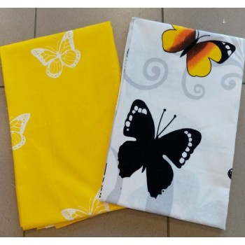 Постельное белье бязь с компаньоном Веселые Желтые Мотыльки фото 1