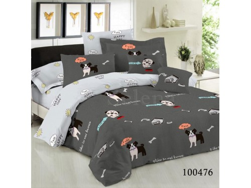 Набор постельного белья Песики на Сером бязь люкс 100476 от Selena в интернет-магазине PannaTeks