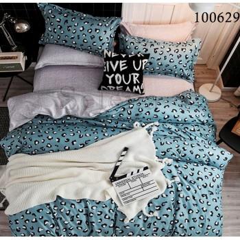 """Постельное белье бязь люкс с компаньоном """"Бирюзовый Леопард"""" 100629 от Selena в интернет-магазине PannaTeks"""
