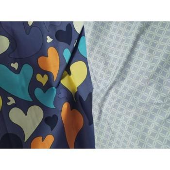 Постельное белье бязь с компаньоном Палитра Ярких Сердец фото 1