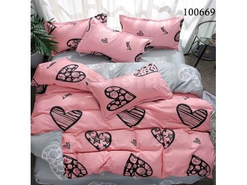 Постельное белье бязь с компаньоном Сердечная Мозаика 100669 от Selena в интернет-магазине PannaTeks