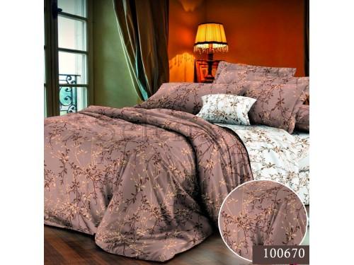 Постельное белье бязь с компаньоном Веточка Кофейная 100670 от Selena в интернет-магазине PannaTeks