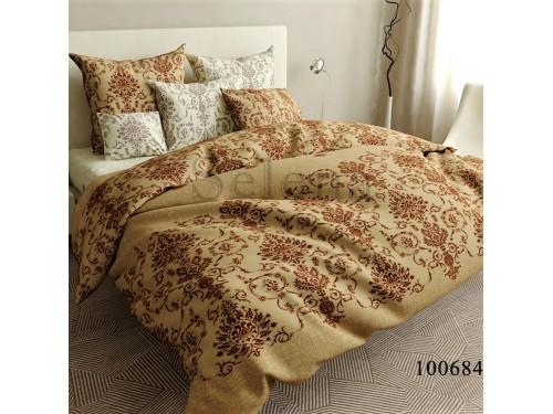 Постельное белье бязь с компаньоном Вензель Кофейный 100684 от Selena в интернет-магазине PannaTeks