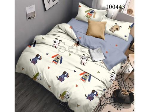 """Постельное белье бязь с компаньоном """"Бобики"""" 100443 100443 от Selena в интернет-магазине PannaTeks"""