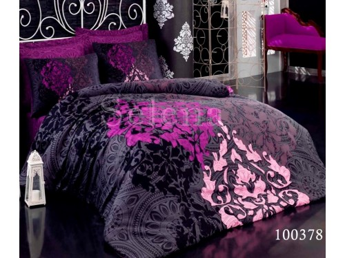 """Постельное белье бязь с компаньоном """"Фиолетовое Безумие"""" 100378 от Selena в интернет-магазине PannaTeks"""