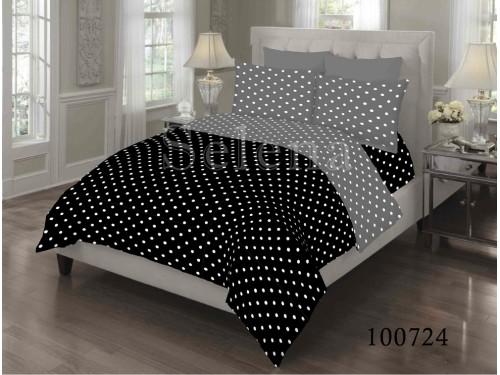 """Постельное белье бязь """"Горошек Black & Grey"""" 100724 от Selena в интернет-магазине PannaTeks"""
