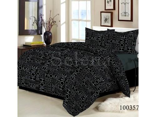 """Постельное белье бязь с компаньоном """"Home Black"""" 100357 от Selena в интернет-магазине PannaTeks"""