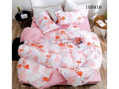 """Постельное белье бязь с компаньоном """"Розовый Фламинго"""" 100416 от Selena в интернет-магазине PannaTeks"""