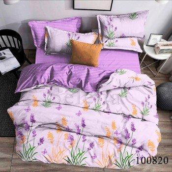 Постельное белье бязь с компаньоном Майская Лаванда Фиолетовая