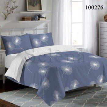 Постельное белье бязь с компаньоном Синие Одуванчики