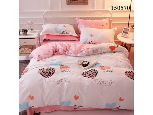 Постельное белье бязь light (лайт) Сердечки Леопардовые 150570 от Selena в интернет-магазине PannaTeks
