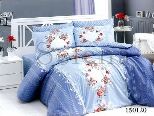 """Постельное белье бязь light """"Орнамент цветочный голубой"""" 150120 от Selena в интернет-магазине PannaTeks"""