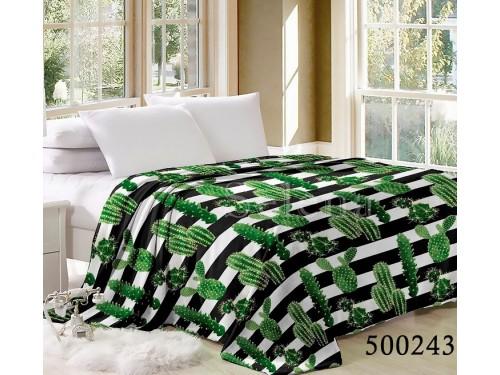 """Плед велсофт """"Кактусы Зеленые"""" 500243 от Selena в интернет-магазине PannaTeks"""