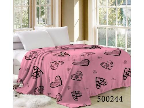 """Плед велсофт """"Сердечки Pink"""" 500244 от Selena в интернет-магазине PannaTeks"""