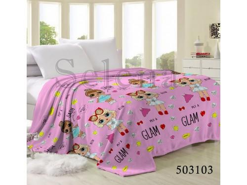"""Плед велсофт """"Куклы ЛОЛ"""" 503103 от Selena в интернет-магазине PannaTeks"""