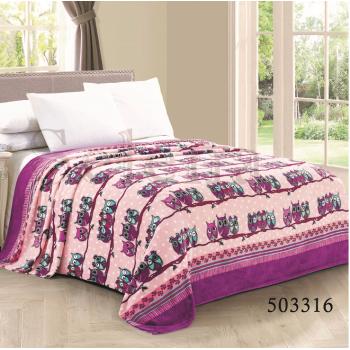 "Плед велсофт ""Совята Pink"" 503316 от Selena в интернет-магазине PannaTeks"