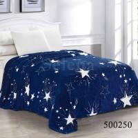 Плед велсофт Звезды Синие