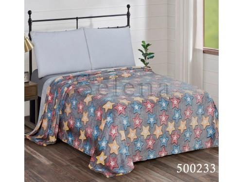 Детский плед велсофт на кровать Звездочки Цветные 500233 от Selena в интернет-магазине PannaTeks