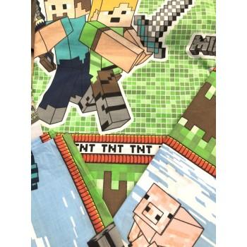 """Детское постельное белье бязь голд """"Игра Minecraft"""" фото 4"""