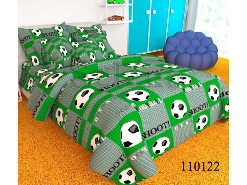 """Комплект подростковый бязь """"Футбольный мяч Green"""" 110122 от Selena в интернет-магазине PannaTeks"""