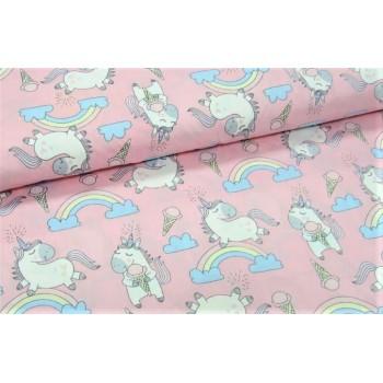 Детское постельное белье бязь голд Единорожки Pink фото 1