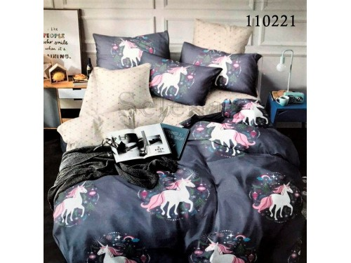 Детское постельное белье бязь голд с компаньоном Сказочные Единорожки 110221 от Selena в интернет-магазине PannaTeks