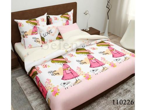 Детское постельное белье бязь люкс Мисс 110226 от Selena в интернет-магазине PannaTeks