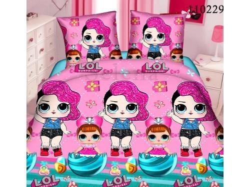 Детское постельное белье бязь люкс Куклы ЛОЛ розовое 110229 от Selena в интернет-магазине PannaTeks