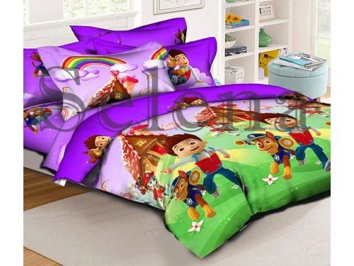 Детское постельное белье ранфорс Щенячий патруль 210305 от Selena в интернет-магазине PannaTeks