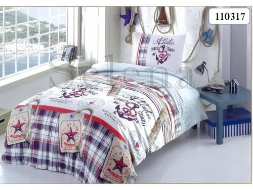 """Комплект подростковый бязь """"Якоря"""" 110317 от Selena в интернет-магазине PannaTeks"""