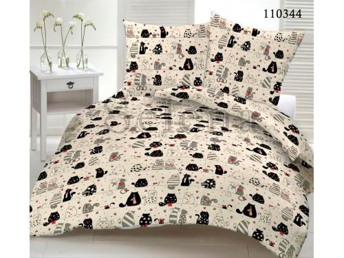 Детское постельное белье бязь Котофей Беж 110344 от Selena в интернет-магазине PannaTeks