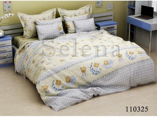 Детское постельное белье бязь Мишки на луне 110325 от Selena в интернет-магазине PannaTeks