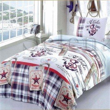Детское постельное белье для мальчика бязь Якоря