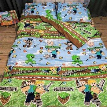 Детское постельное белье бязь голд Игра Minecraft 110346 от Selena в интернет-магазине PannaTeks