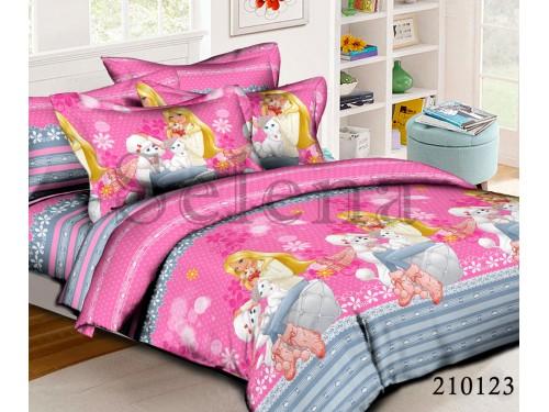 Детское постельное белье для девочки ранфорс Друзья Барби 210123 от Selena в интернет-магазине PannaTeks