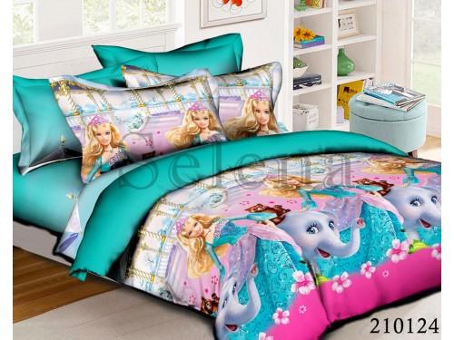 Детское постельное белье для девочки ранфорс Барби со Слоном 210124 от Selena в интернет-магазине PannaTeks