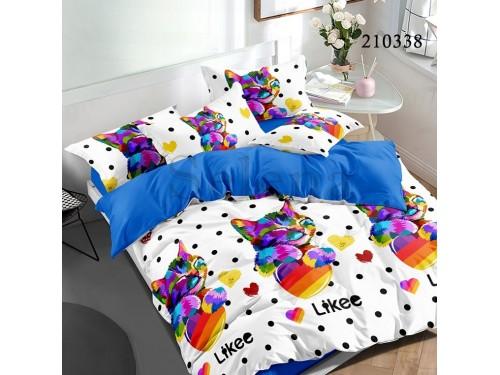 Детское постельное белье ранфорс Котик Разноцветный 210338 от Selena в интернет-магазине PannaTeks