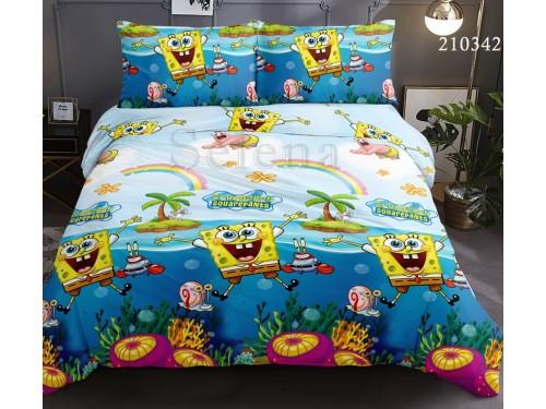 Детское постельное белье ранфорс Губка БОБ 210342 от Selena в интернет-магазине PannaTeks