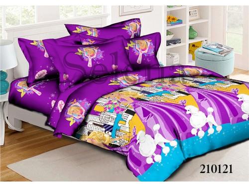 Детское постельное белье для девочки ранфорс Барби с Пуделем 210121 от Selena в интернет-магазине PannaTeks