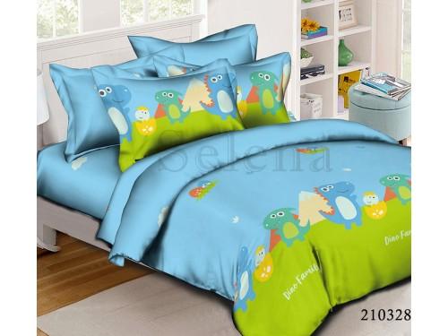 Детское постельное белье ранфорс Dino Family 210328 от Selena в интернет-магазине PannaTeks