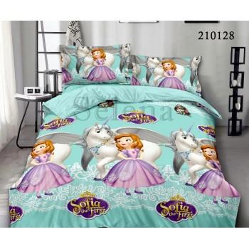 Детское постельное белье для девочки ранфорс Друзья Софии