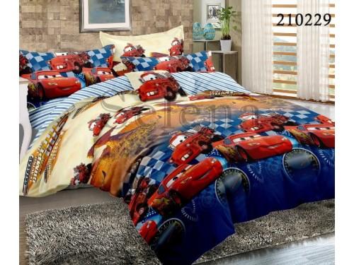 Детское постельное белье для мальчика ранфорс Гонки 210229 от Selena в интернет-магазине PannaTeks