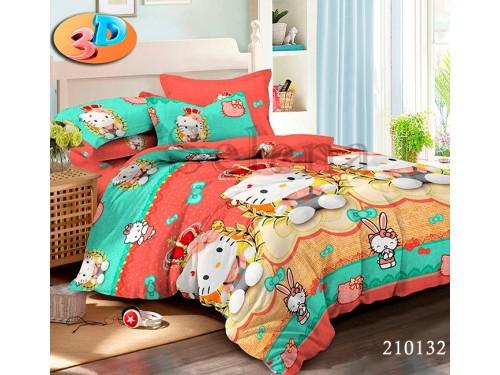 Детское постельное белье для девочки ранфорс Kitty 210132 от Selena в интернет-магазине PannaTeks