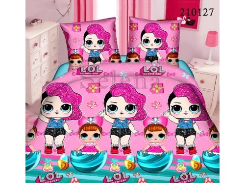 Детское постельное белье для девочки ранфорс Куклы 210127 от Selena в интернет-магазине PannaTeks