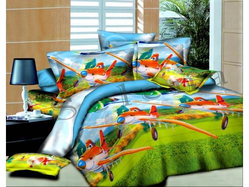 Детское постельное белье для мальчика ранфорс Тачки-летачки 210213 от Selena в интернет-магазине PannaTeks