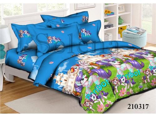 Детское постельное белье ранфорс Little Pony 210317 от Selena в интернет-магазине PannaTeks