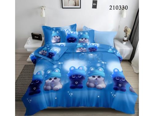 Детское постельное белье ранфорс Лунные Котята 210330 от Selena в интернет-магазине PannaTeks